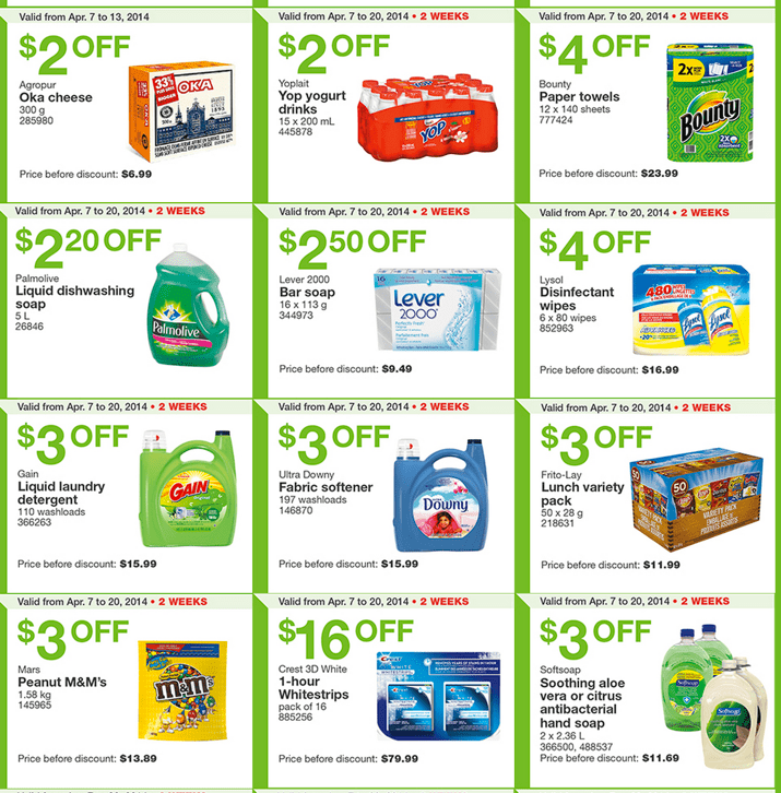 Costco Canada Eastern Weekly Instant Coupons Costco Canada Weekly Handouts Coupons: Ontario, Quebec & Atlantic Monday, April 7 13