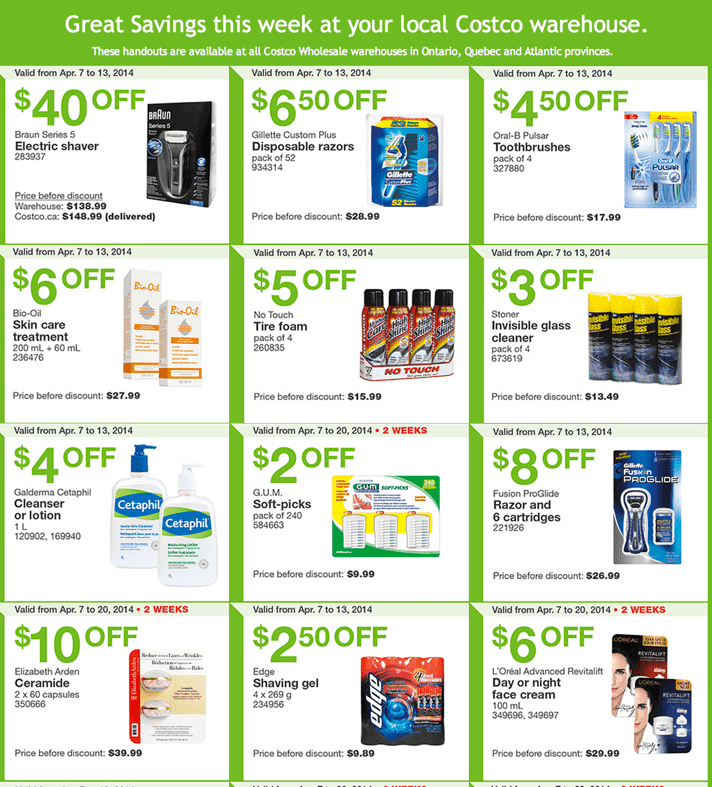Costco Canada Eastern Weekly Instant Handouts Costco Canada Weekly Handouts Coupons: Ontario, Quebec & Atlantic Monday, April 7 13