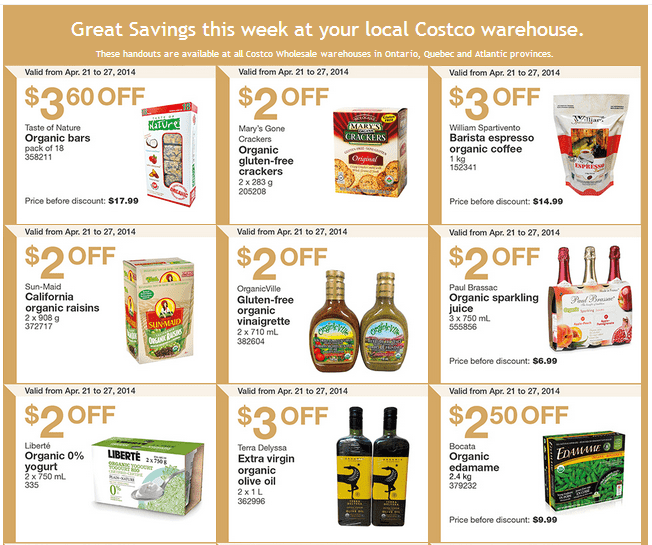 Costco e 1 Costco Canada Weekly Instant Handouts Coupons: Ontario, Quebec & Atlantic, Monday, April 21 To Sunday, April 27, 2014