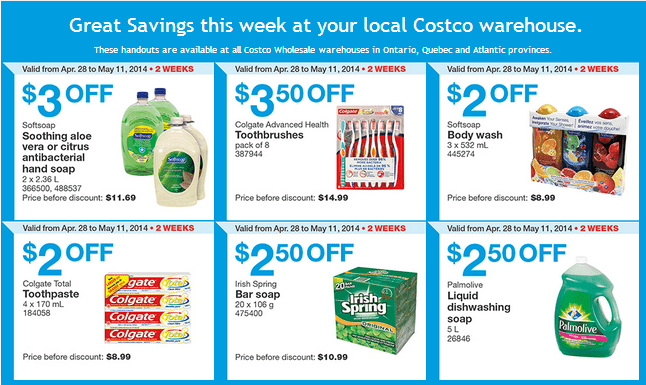 Costco e 11 Costco Canada Weekly Instant Handouts Coupons: Ontario, Quebec & Atlantic, Monday, April 28 To Sunday, May 11, 2014