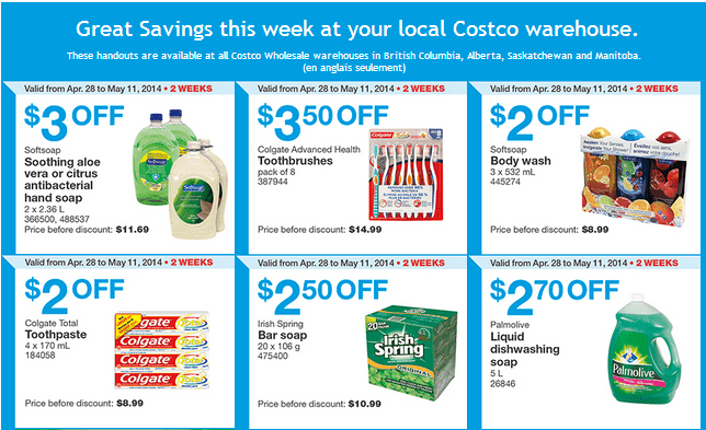 Costco w 11 Costco Canada Weekly Instant Handouts Coupons: British Columbia, Alberta, Saskatchewan & Manitoba, Monday, April 28 To Sunday, May 11, 2014