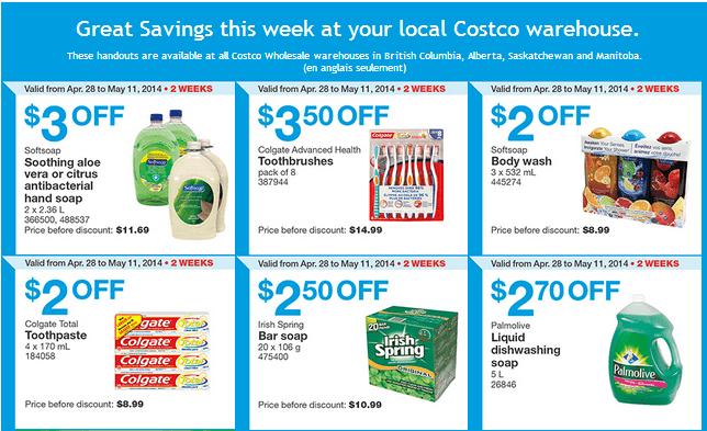 Costco w 11 Costco Canada Weekly Instant Handouts Coupons: British Columbia, Alberta, Saskatchewan & Manitoba, Monday, April 28 To Sunday, May 11, 2014