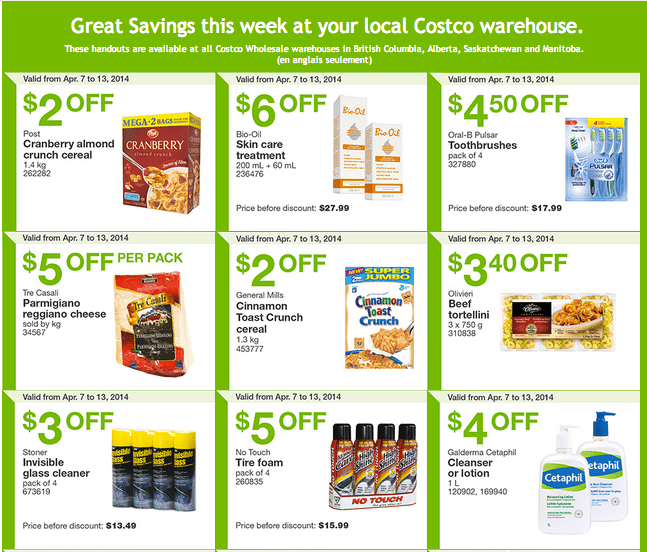 Costco west 1 Costco Canada Weekly Instant Handouts Coupons For British Columbia, Alberta, Saskatchewan & Manitoba, April 7   13, 2014