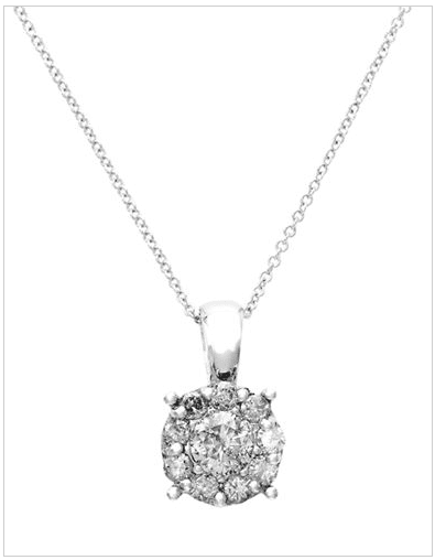 Hudsons Bay 1 Hudson's Bay Mother's Day Canada Gifts: Save 60% Off Effy 18K White Gold 0.5ct Diamond Cluster Pendant