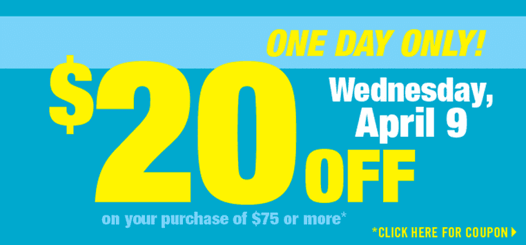 Shoppers Drug Mart Canada Deals Shoppers Drug Mart Canada Printable Coupons: Save $20 When You Spend $75 or More, Wednesday, April 9, 2014