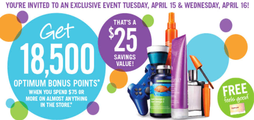 Shoppers Drug Mart Canada Printable Coupons Shoppers Drug Mart Canada Printable Coupons: Get 18,500 Optimum Bonus Points when You Spend $75 Tuesday & Wednesday April 15 16