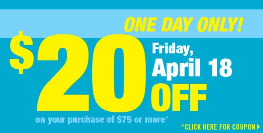 Shoppers Drug Mart Coupons Shoppers Drug Mart Coupons: Get $20 OFF when You Spend $75 or More, Friday, April 18, 2014