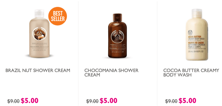 The Body Shop Canada Sale The Body Shop Canada Online Deals: All Shower Gels at Just $5 & More!