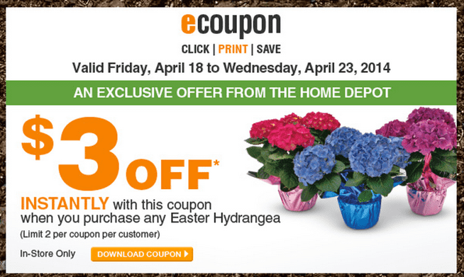 The Home Depot Garden Club Printable Coupons Get 3 Off