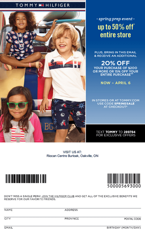 photograph regarding Tommy Hilfiger Coupon Printable named Tommy hilfiger outlet discount codes printable 2018 canada : Coupon