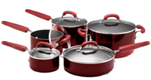 Walmart Walmart Canada Rollback Offers: Save 50% On Kitchenaid 10 Pice Set Red