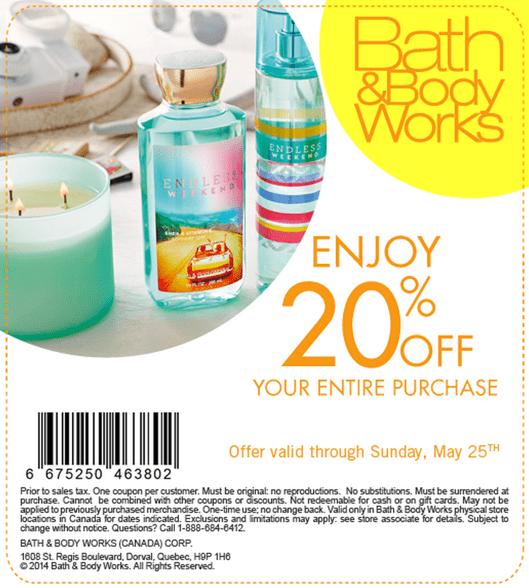 Bath and body works canada