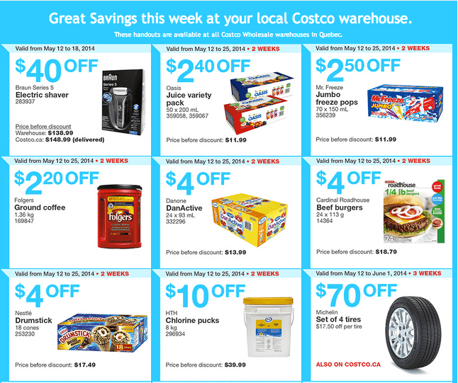 Costco Q1 Costco Quebec Canada Flyers / Coupons for May 12 – 18, 2014