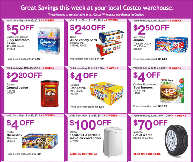 Costco Q11 Costco Quebec Canada Flyers / Coupons Until May 25, 2014
