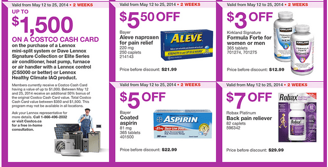 Costco W3 Costco Canada Weekly Instant Handouts Coupons For British Columbia, Alberta, Saskatchewan & Manitoba, Until May 25, 2014