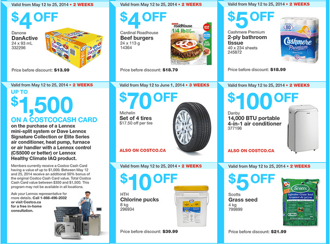 Costco e2 Costco Canada Weekly Instant Handouts Coupons: Ontario & Atlantic, Monday, May 12 To Sunday, May 18, 2014