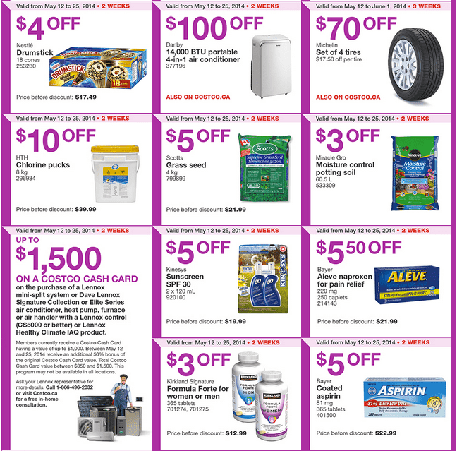 Costco e21 Costco Canada Weekly Instant Handouts Coupons: Ontario & Atlantic, Until Sunday, May 25, 2014