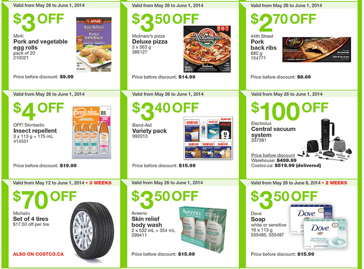 Costco e22 Costco Canada Weekly Instant Handouts Coupons: Ontario, Quebec & Atlantic, Monday, May 26 To Sunday, June 1, 2014
