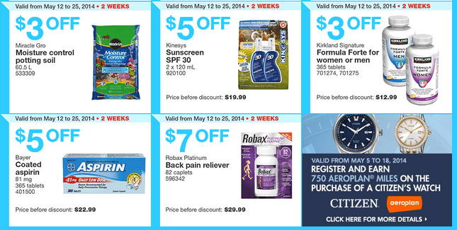 Costco e3 Costco Canada Weekly Instant Handouts Coupons: Ontario & Atlantic, Monday, May 12 To Sunday, May 18, 2014