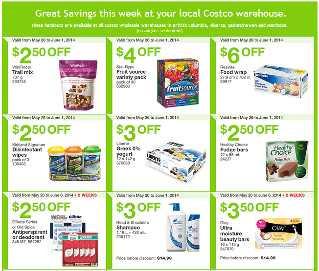 Costco w11 Costco Canada Weekly Instant Handouts Coupons For British Columbia, Alberta, Saskatchewan & Manitoba, May 26 To June 1, 2014