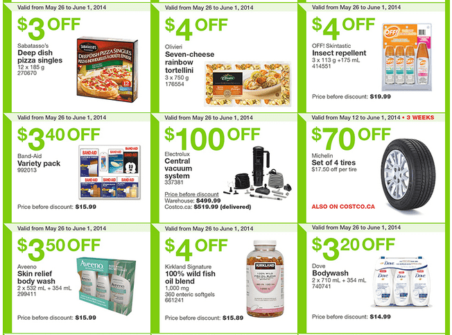 Costco w2 Costco Canada Weekly Instant Handouts Coupons For British Columbia, Alberta, Saskatchewan & Manitoba, May 26 To June 1, 2014