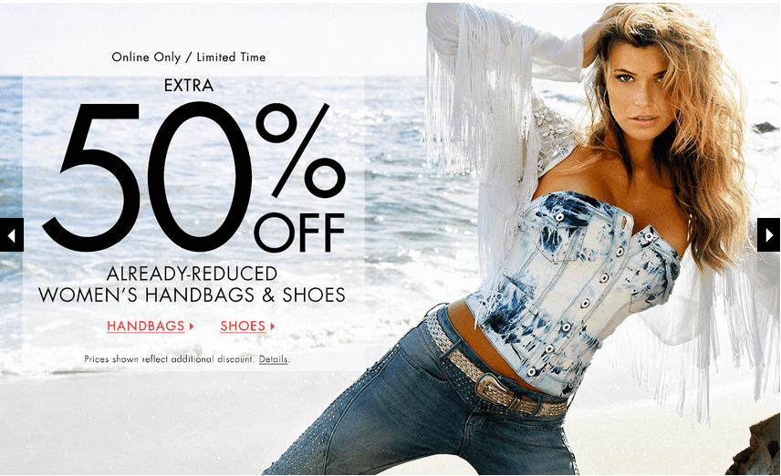 Guess 1 Guess Canada Offers: Save An Extra 50% Off Handbags & Shoes And 40% Off Women's & Men's Styles