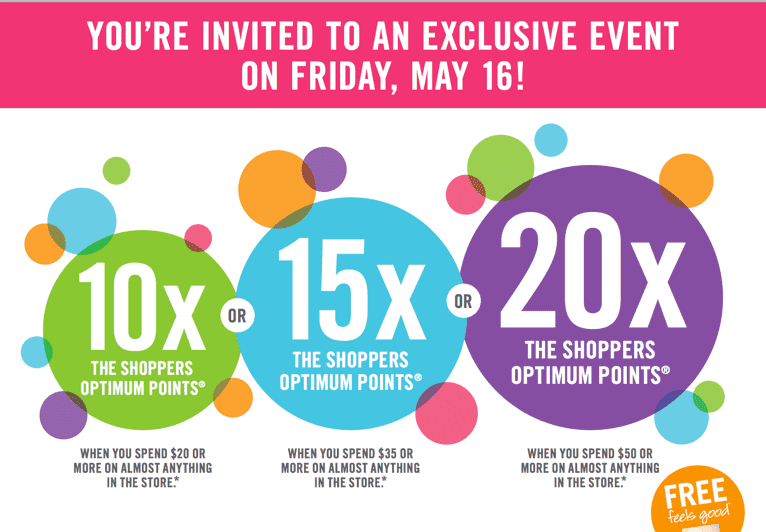 Shoppers Drug Mart Coupon  Shoppers Drug Mart Canada Printable Coupons: Multiply Your Points Event, One Day Only, Friday, May 16!