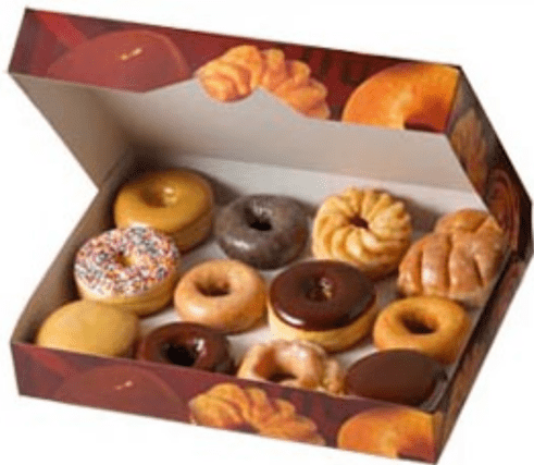 A dozen donuts at tim hortons