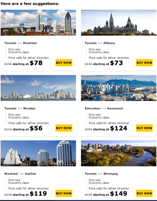 Via rail discount coupons