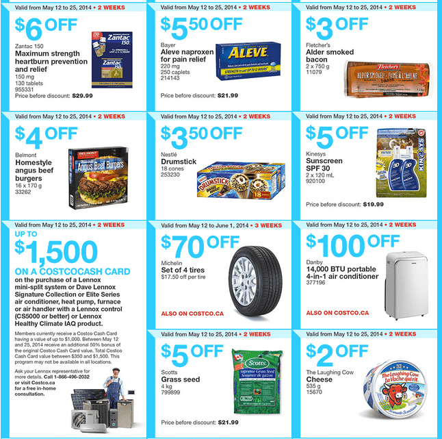 costco w2 Costco Canada Weekly Instant Handouts Coupons For British Columbia, Alberta, Saskatchewan & Manitoba, May 12 — 18, 2014
