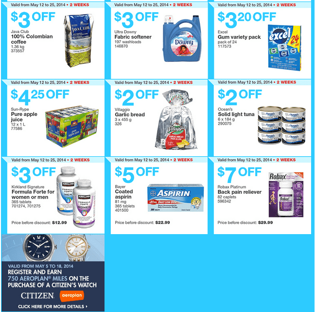 costco w3 Costco Canada Weekly Instant Handouts Coupons For British Columbia, Alberta, Saskatchewan & Manitoba, May 12 — 18, 2014