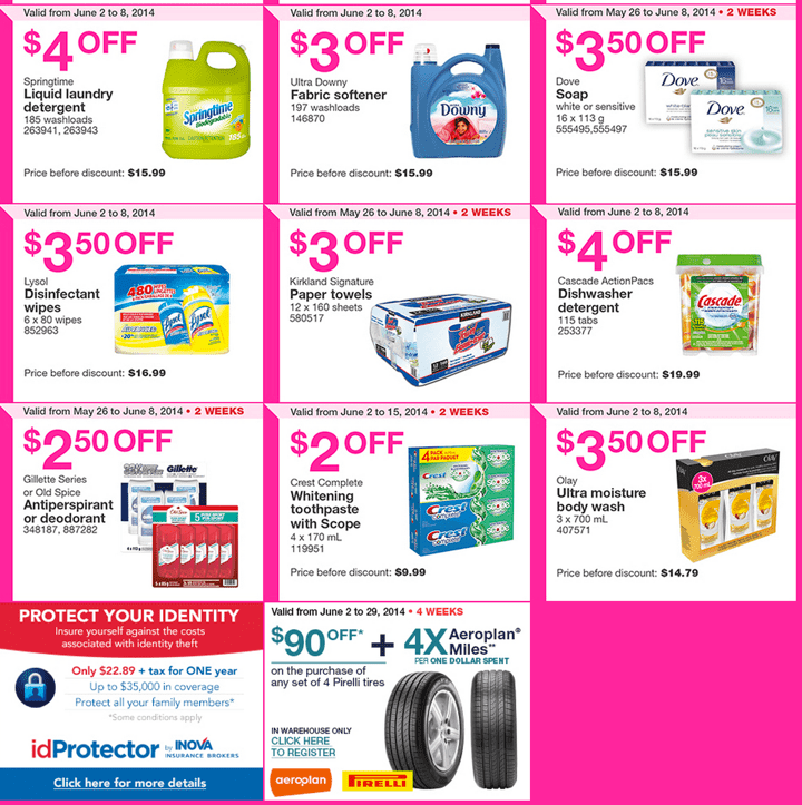 Costco Coupons warehouses in Ontario and Atlantic provinces. Costco Canada Weekly Instant Handouts Coupons: Ontario and Atlantic Provinces, Monday, June 2 To Sunday June 8, 2014