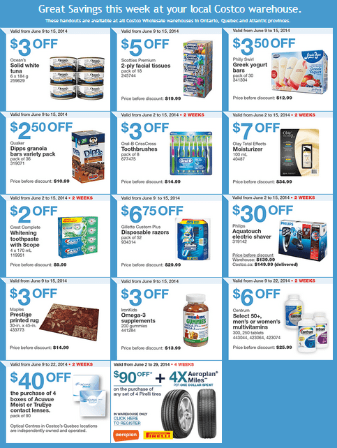 Costco e 1 Costco Canada Weekly Instant Handouts Coupons: Ontario, Quebec & Atlantic, Monday, June 9 To Sunday, June 15, 2014