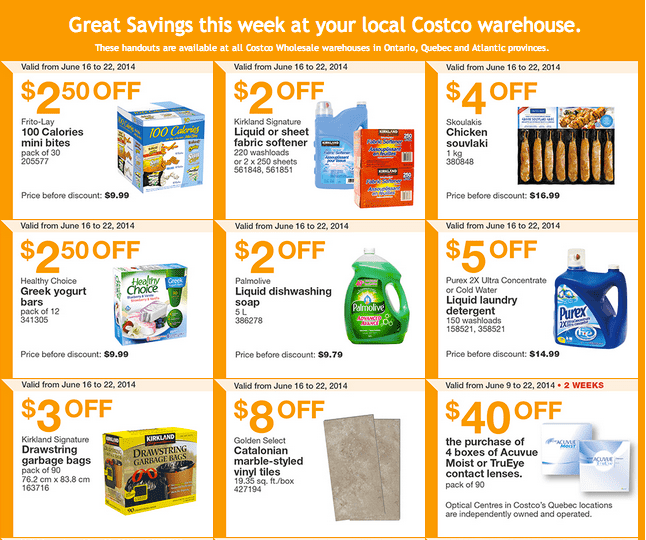 Costco e1 Costco Canada Weekly Instant Handouts Coupons: Ontario, Quebec & Atlantic, Monday, June 16 To Sunday, June 22, 2014
