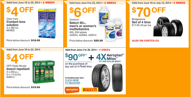 Costco e2 Costco Canada Weekly Instant Handouts Coupons: Ontario, Quebec & Atlantic, Monday, June 16 To Sunday, June 22, 2014