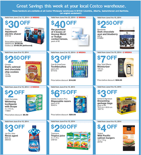 Costco w 1 Costco Canada Weekly Instant Handouts Coupons For British Columbia, Alberta, Saskatchewan & Manitoba, June 9 To June 15, 2014