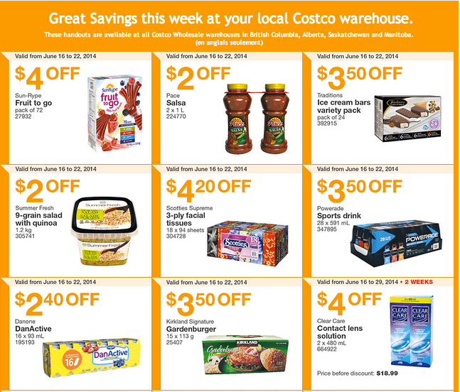 Costco w1 Costco Canada Weekly Instant Handouts Coupons For British Columbia, Alberta, Saskatchewan & Manitoba, June 16 To June 22, 2014