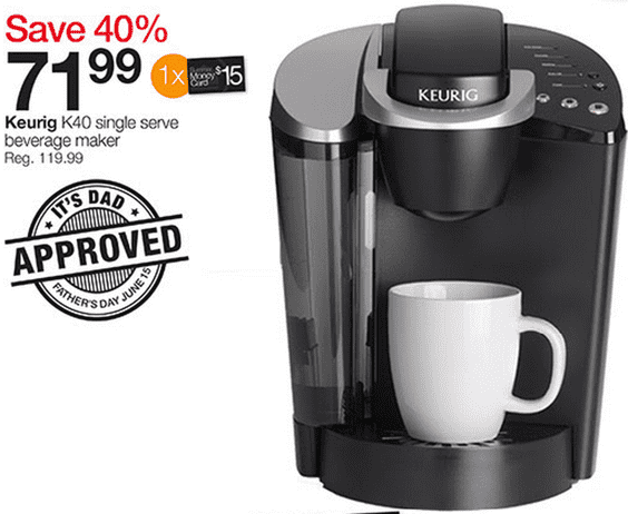 Coffee Maker Home Outfitters : Home Outfitters Canada One Day Sale: Keurig K40 Single Serve Beverage Maker for Just USD 71.99 (Reg ...
