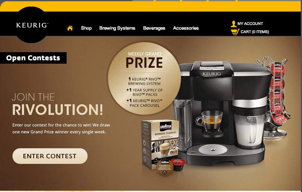 keurig contest for a chance to win the weekly grand prize the keurig ...