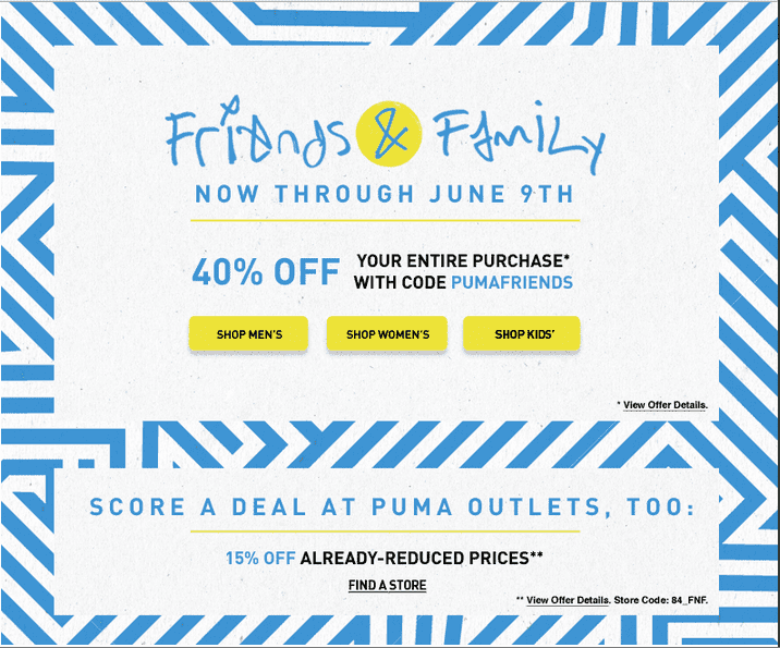 50% Off Puma Kids Gear. Men's, Women's, and Kids' items are all marked down during this huge semi-annual sale from Puma! Get all the gear you need, from sweats to 5/5(8).