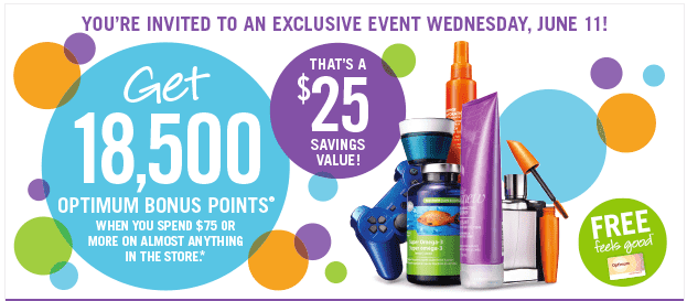 Shoppers Shoppers Drug Mart Coupons: Get 18,500 Optimum Bonus Points When You Spend $75 On Wednesday