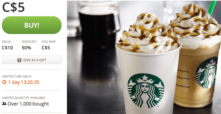 Get access to Starbucks Happy Hour after you sign up to be a Starbucks Rewards member. You will receive Starbucks coupons, promo codes, and special offers in your email.