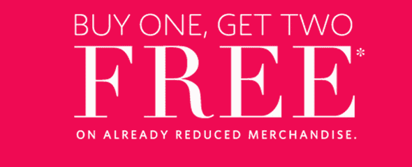Addition Elle Canada Deals Addition Elle Canada Offers: Buy 1 Already Reduced Item and Get 2 Items FREE! Today