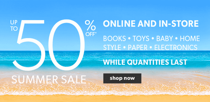 Chapters Indigo Canada Summer Sale Up to 50 Off Books Toys