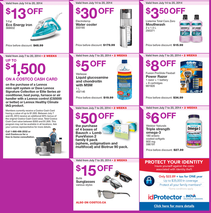 Costco Canada Flyers For Western British Columbia Alberta Saskatchewan Manitoba Costco Canada Weekly Instant Savings Handouts Flyers For British Columbia, Alberta, Saskatchewan & Manitoba From Monday July 14 Until Sunday, July 20, 2014