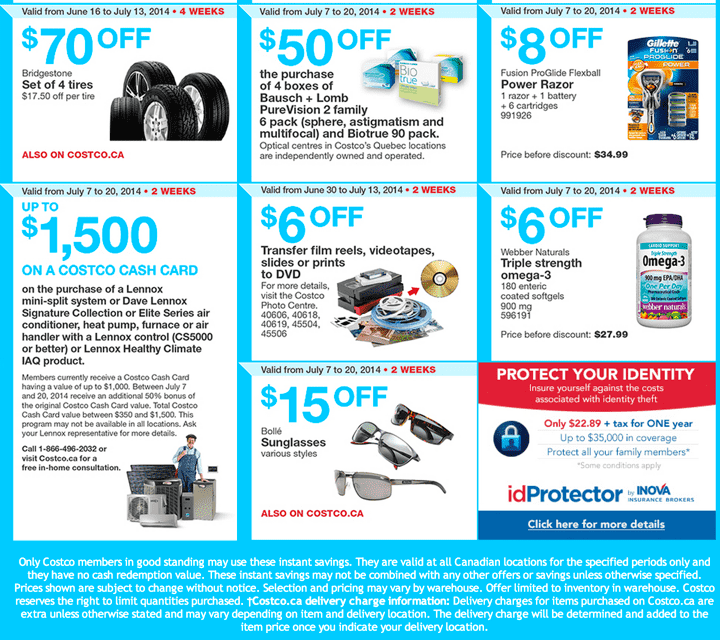 Costco Canada Weekly Coupons Ontario and Atlantic1 Costco Canada Weekly Instant Handouts Coupons: Ontario, Quebec & Atlantic, Monday, July 7 To Sunday, July 13, 2014