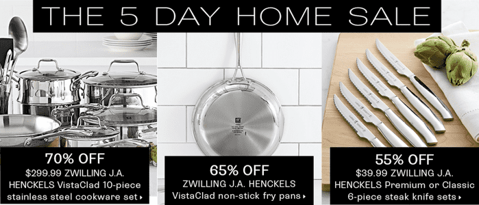Hudsons Bay 5 Day Home Sale Hudsons Bay Canada Online 5 Day Home Sale On Henckel, KitchenAid, Mikasa Cameo, Sophie Conran, Villeroy & Boch, and More!