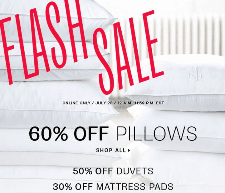 Hudsons Bay Sale Hudsons Bay Canada Flash Online Sale: Save 60% off Pillows, Duvets and More! Today