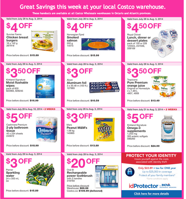 Screen Shot 2014 07 28 at 5.16.13 AM Costco Canada Weekly Instant Handouts Coupons: Ontario and Atlantic Provinces, Monday, July 28 To Sunday August 3, 2014
