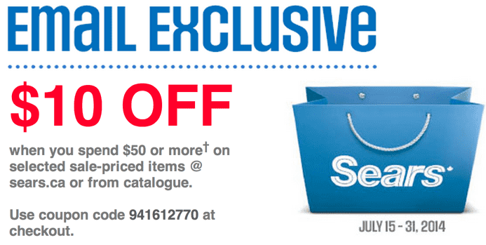 Sears free shipping coupon code